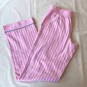 NWOT Victorias Secret Pink/Silver Striped PJ Pants